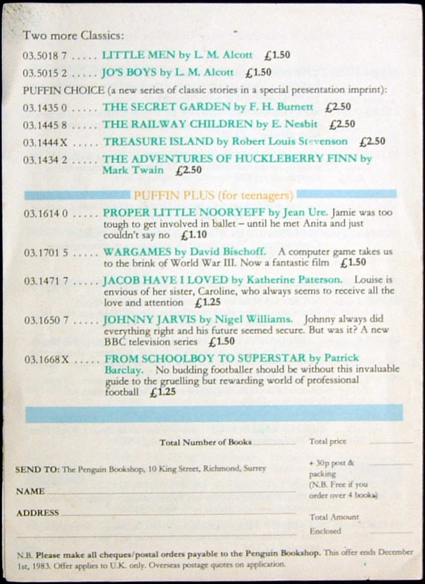 A variety of Ephemera produced by Penguin Books and others